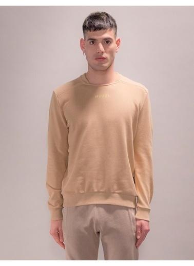 Huxel MUS003193 Omuz Detaylı Sweatshirt Gri